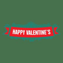 Etiqueta de San Valentín cinta adornada