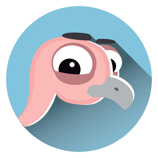 Ostrich cartoon circle icon Transparent PNG