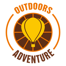Outdoors adventure rounded label