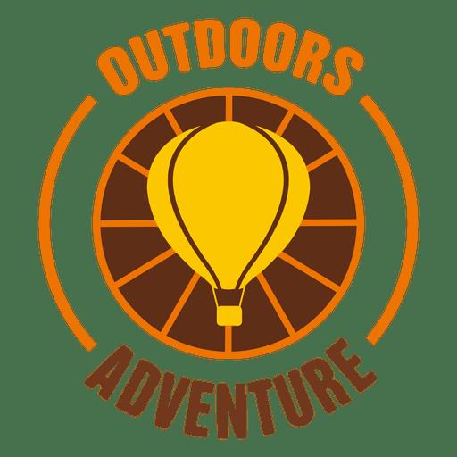 Etiqueta redondeada de aventura al aire libre