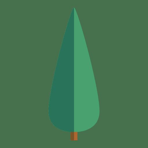 Ícone de árvore de origami oval