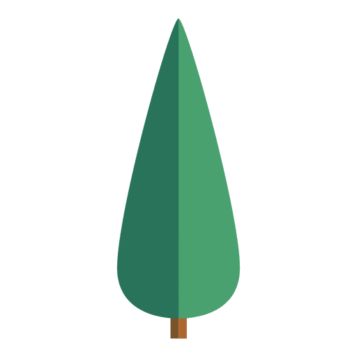 Oval origami tree icon