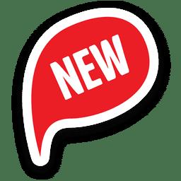 Marca de venda vermelha oval