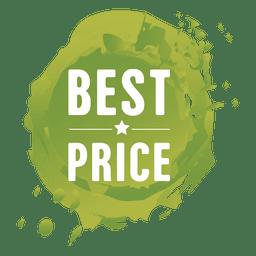 Etiqueta de venta de salpicaduras de pintura verde