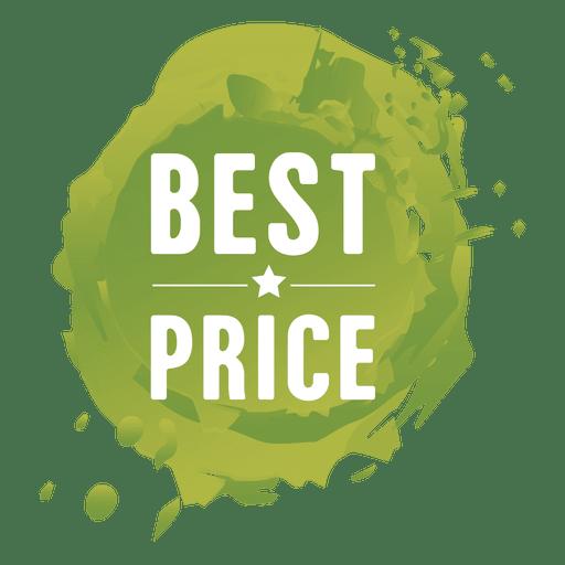 Etiqueta de venta de salpicaduras de pintura verde Transparent PNG