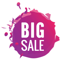 Paint splash big sale label
