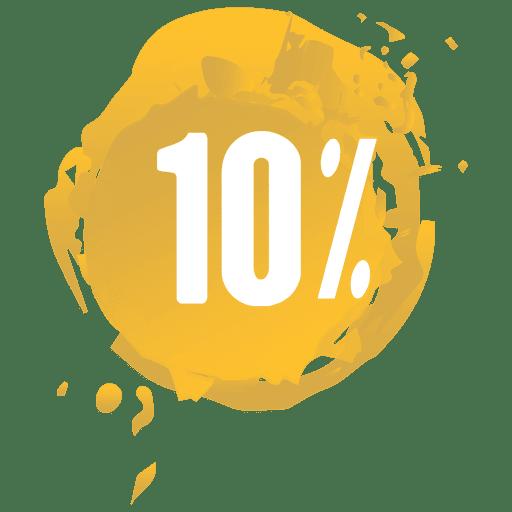 Yellow paint splash sale label Transparent PNG