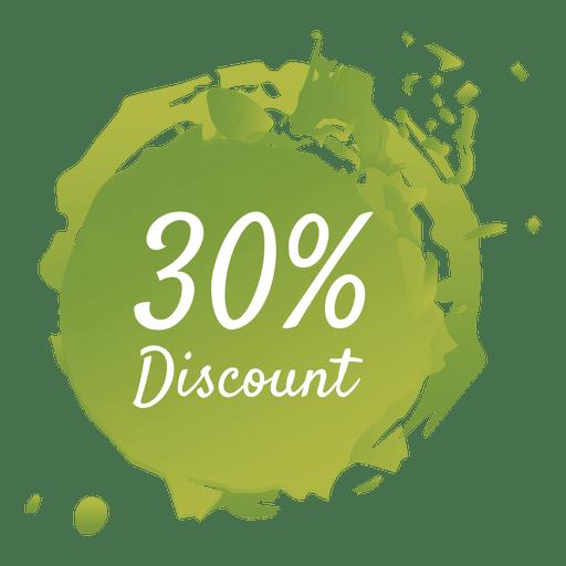 Paint splash sale label in green Transparent PNG