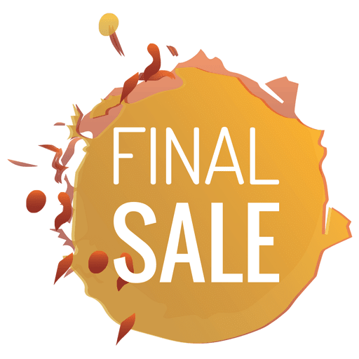 Paint Splash Sale Label In Orange Transparent PNG