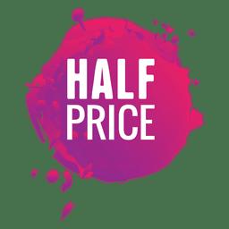 Etiqueta de venta de salpicaduras de pintura rosa