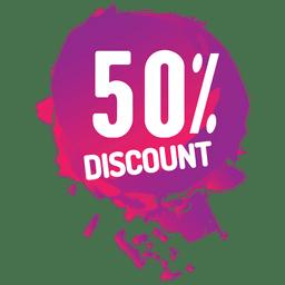 Rótulo de venda de respingo de tinta rosa