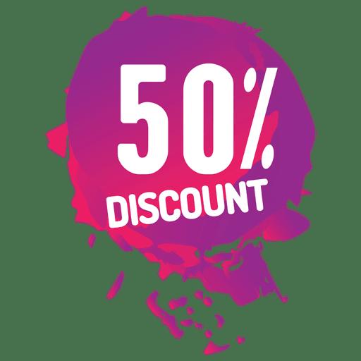 Etiqueta de venta de salpicaduras de pintura rosa Transparent PNG
