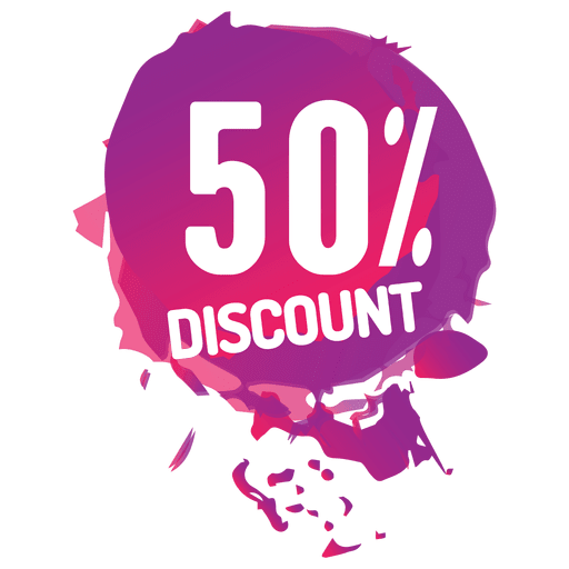 Pink paint splash sale label Transparent PNG
