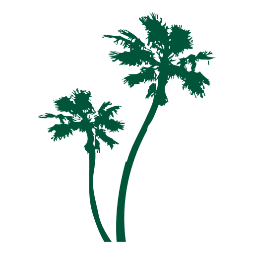 Palm Trees Green Silhoutte Transparent PNG