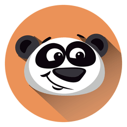 Panda cartoon circle icon