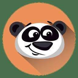 Panda-Cartoon-Kreis-Symbol