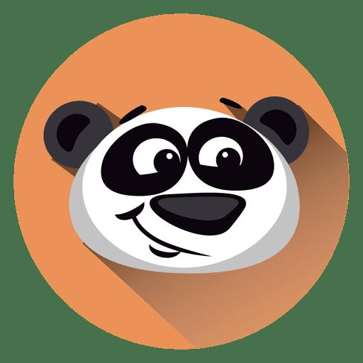 Icono de círculo de dibujos animados de panda