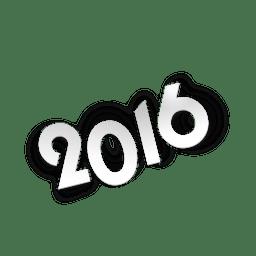Papel cortado 2016 números