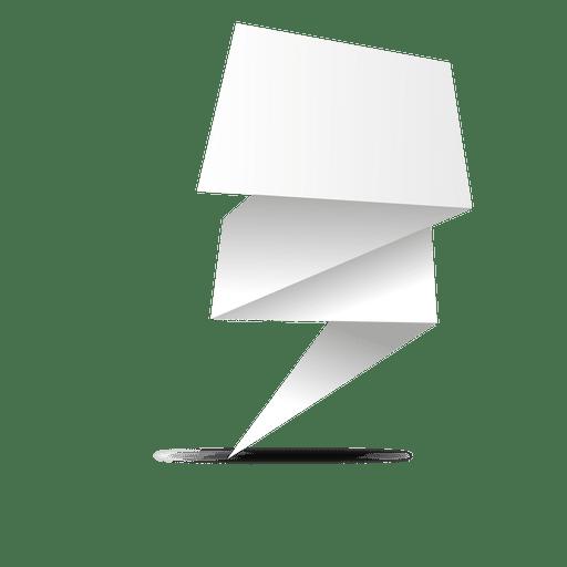 Paper made folded banner Transparent PNG