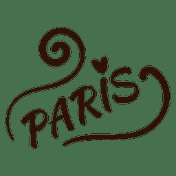 Paris Typografie Zeichnung