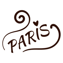 Paris typography drawing