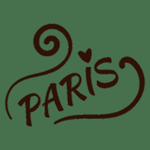 Dibujo de tipografía de París Transparent PNG