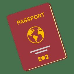Ícone de viagem do passaporte