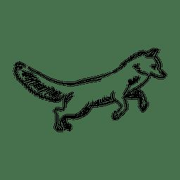 Bleistiftzeichnung Fuchs