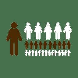 Personas simbolos infographic.svg