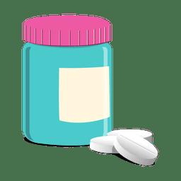 Frasco de pastillas farmacéuticas