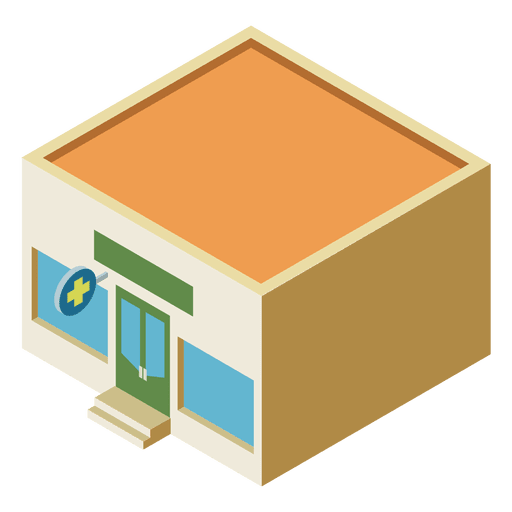 Pharmacy isometric flat building Transparent PNG