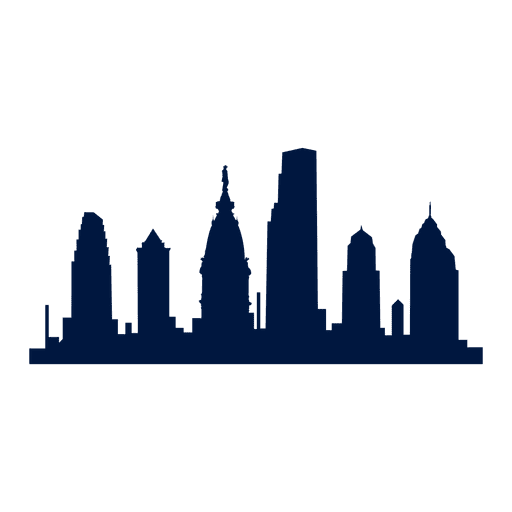 Philadelphia city skyline silhouette Transparent PNG