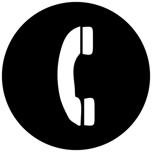 Phone round service icon Transparent PNG