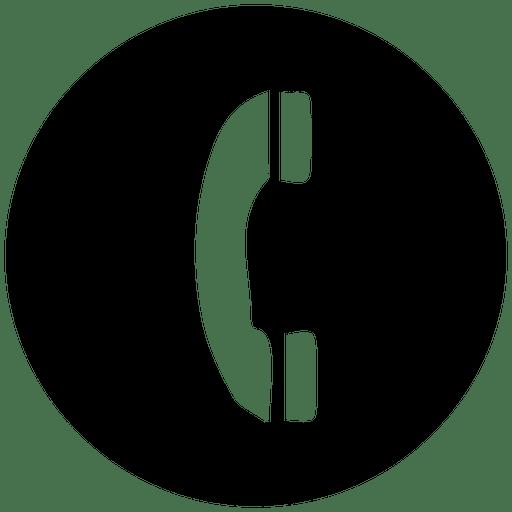 Telefone, redondo, serviço, ícone Transparent PNG