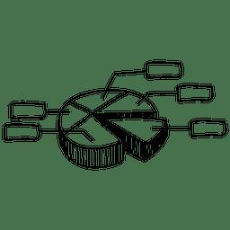 Doodle dibujado a mano gráfico circular