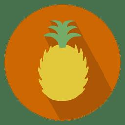 Ícone de círculo fatiado de abacaxi