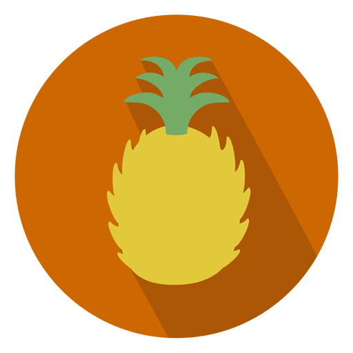 Pineapple sliced circle icon