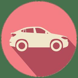 Carro retrô de círculo rosa