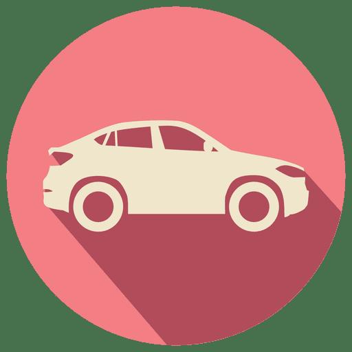 Carro retrô de círculo rosa Transparent PNG