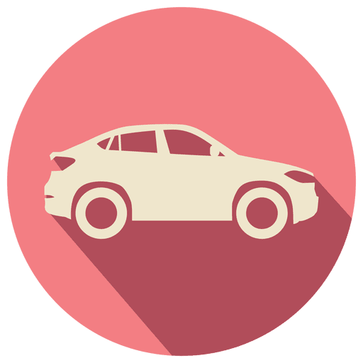 Pink circle retro car