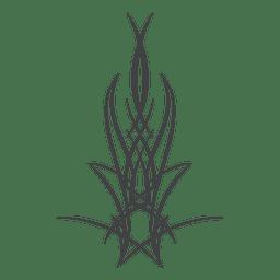 Pinstripe arte de la línea del tatuaje