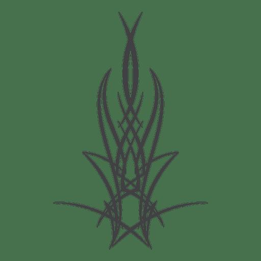 Pinstripe tattoo line art
