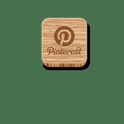 Icono de estilo de madera de Pinterest