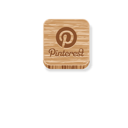 Pinterest ícone de estilo de madeira