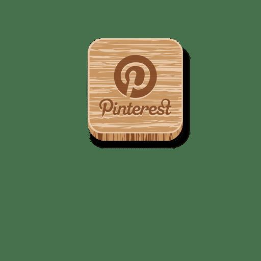 Icono de estilo de madera de Pinterest Transparent PNG