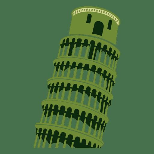 Dibujo de dibujos animados de la torre de Pisa Transparent PNG