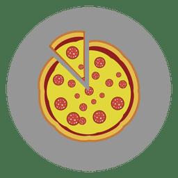 Icono de círculo de pizza