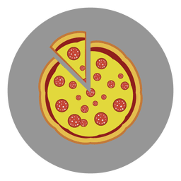 Pizza circle icon