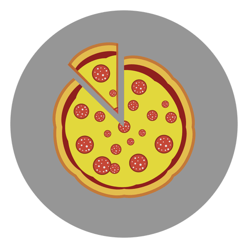 Pizza circle icon Transparent PNG