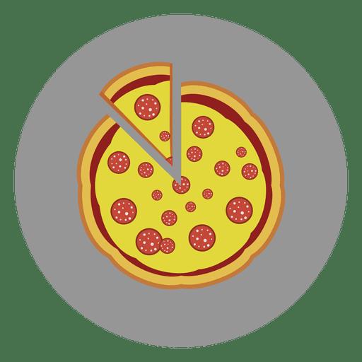 Pizza circle icon